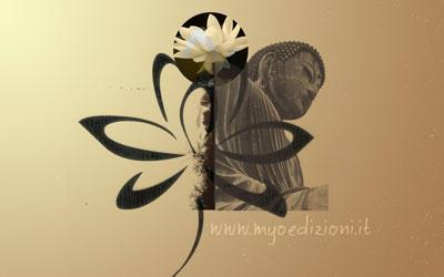 Buddha and Lotus Wallpaper