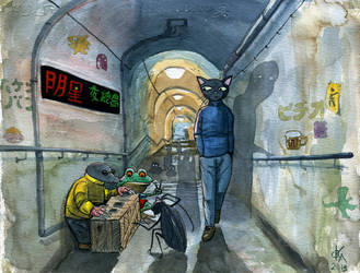 Out of the subway by Odomi2
