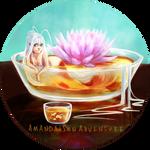 Lotus tea Koi fish mermaid