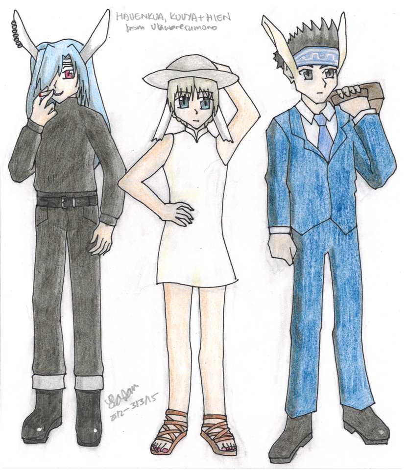 Hien, Hau and Kuuya by AetherWings