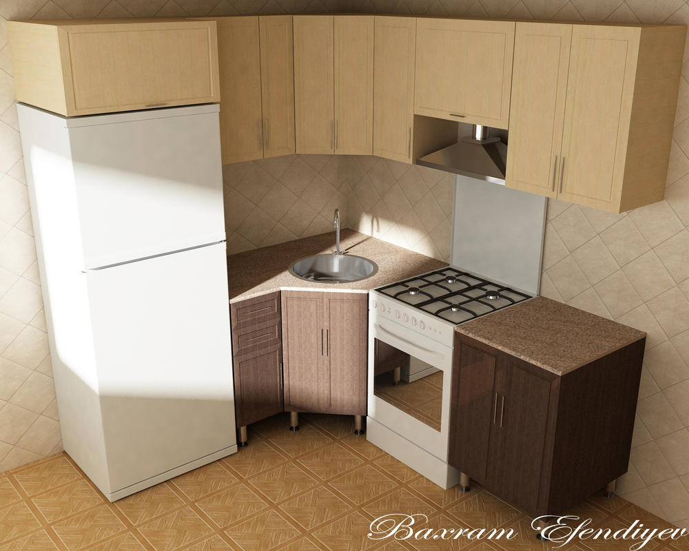 Kitchen furniture design by bahramafandiyev on deviantart for Kitchen furniture design