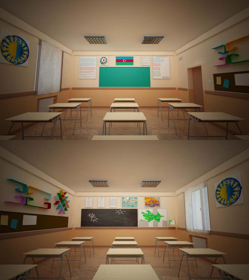 Modern Primary Classroom ~ Bms baku modern school primary classroom design by