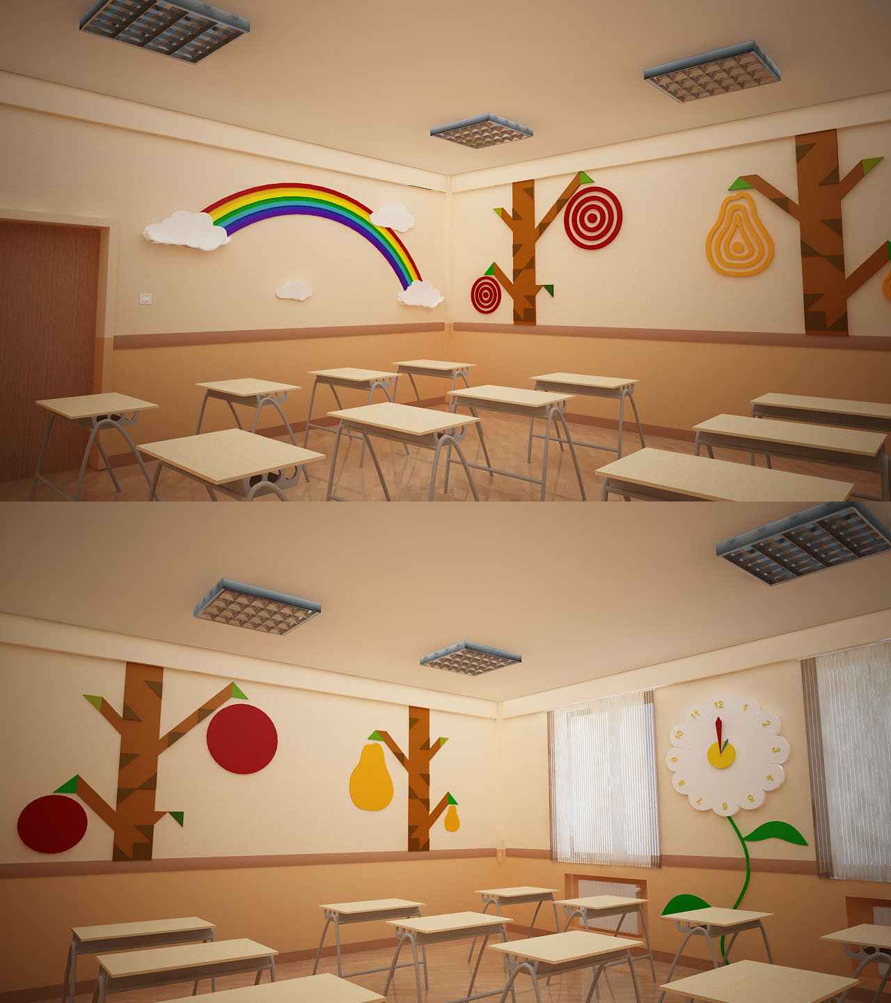 Modern Primary School Classroom ~ Bms baku modern school primary classroom design by