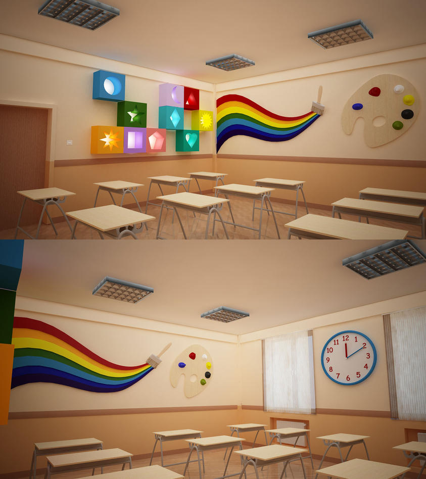 Bms baku modern school primary classroom design 3 by for Art classroom decoration ideas