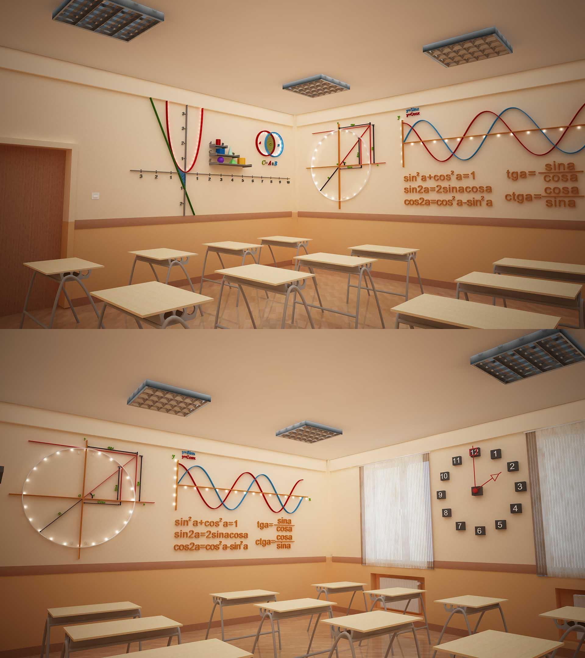 Bms baku modern school math classroom design by Online classroom designer