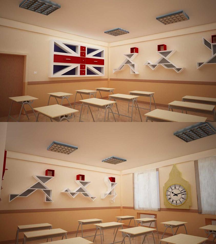 Modern School Classroom Design ~ Bms baku modern school primary classroom design by