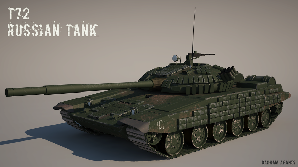 T-72 Russian Tank by BahramAfandiyev