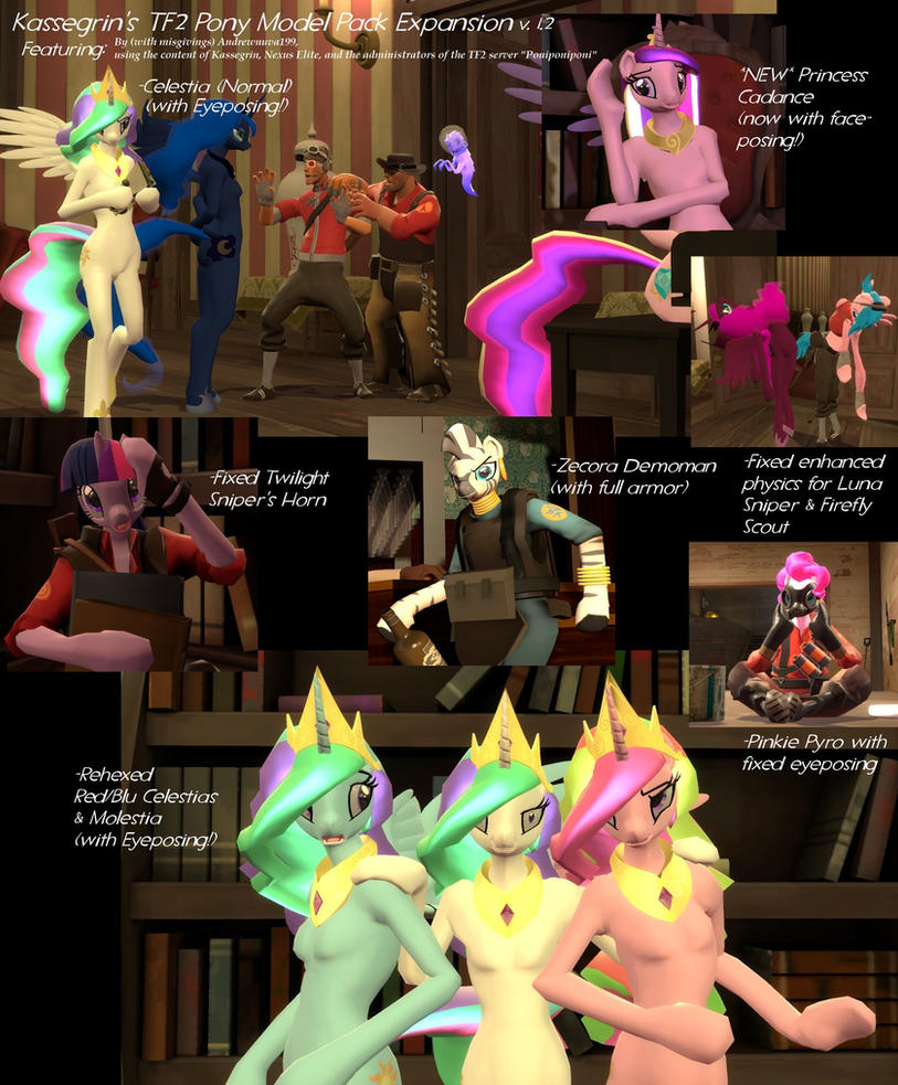 Kassegrin's TF2 Pony Models Update v1.2 by Andrewnuva199