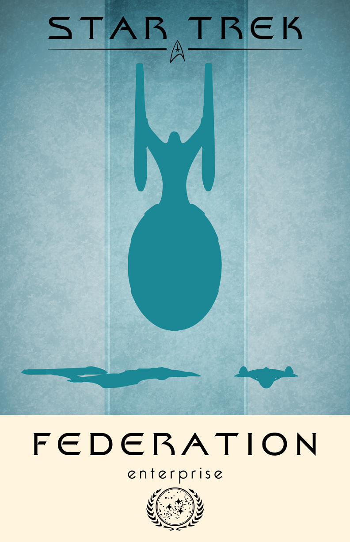 Star Trek Enterprise Poster by LiquidSoulDesign