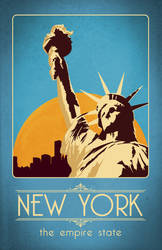 Retro New York Travel Poster