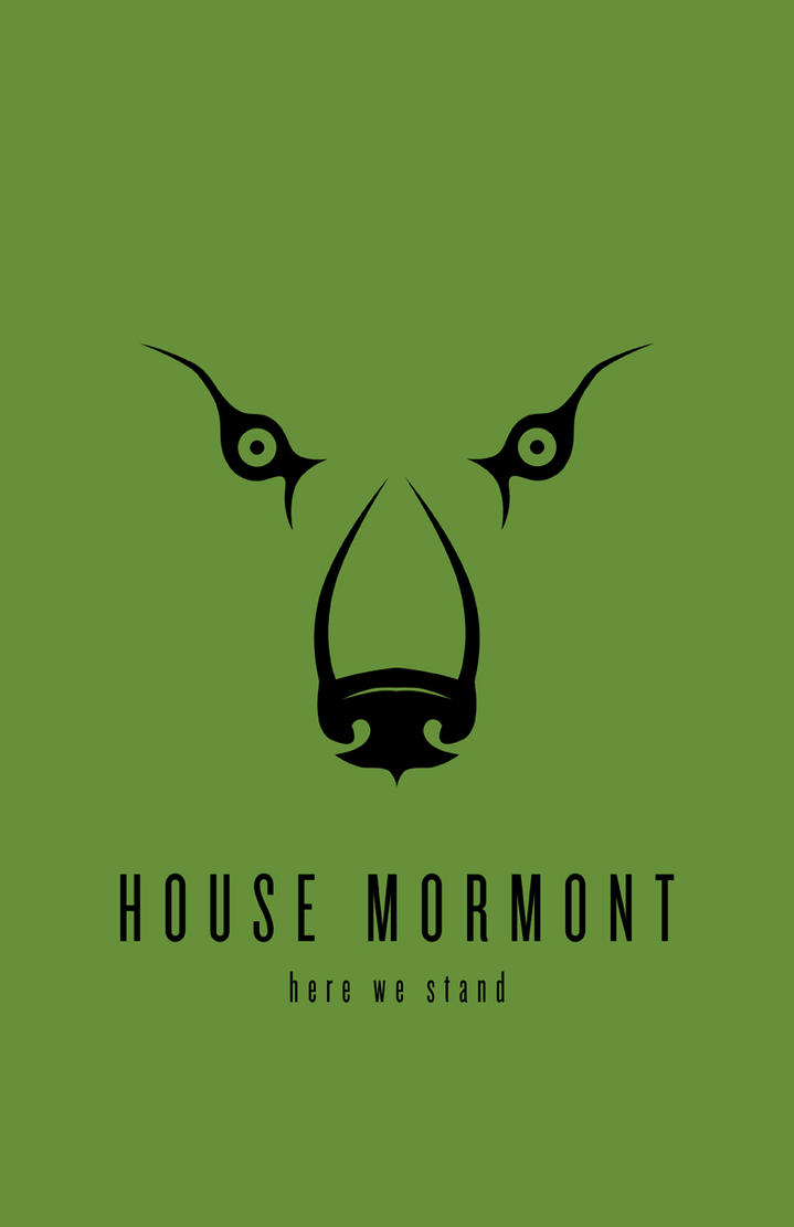 House Mormont Minimalist Poster by LiquidSoulDesign