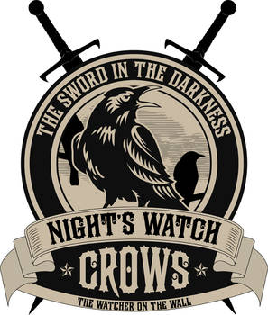 Nights Watch Crest with Sword by LiquidSoulDesign