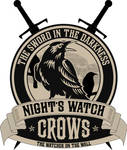 Nights Watch Crest with Sword