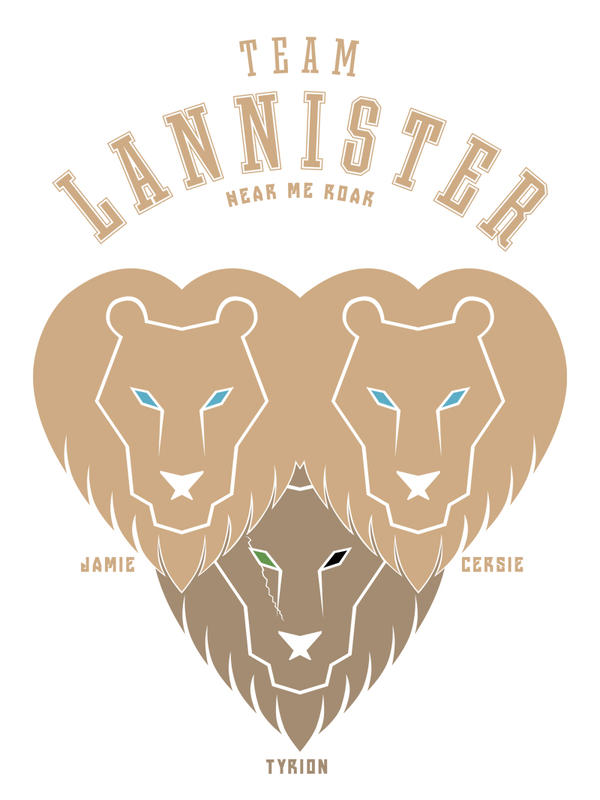 Team Lannister Tee Design by LiquidSoulDesign