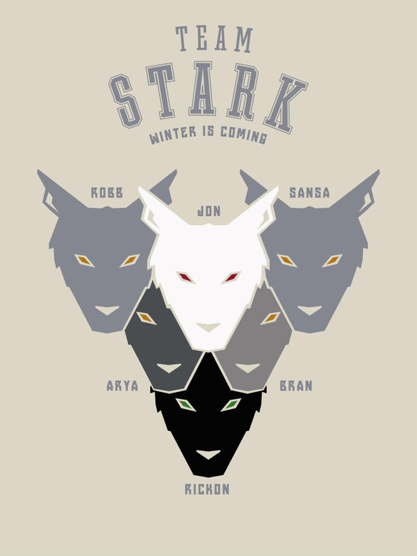 House Stark Sports Tee by LiquidSoulDesign