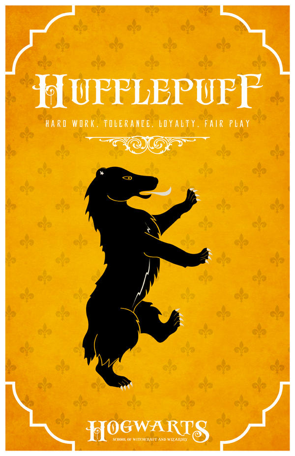 House Hufflepuff Poster by LiquidSoulDesign