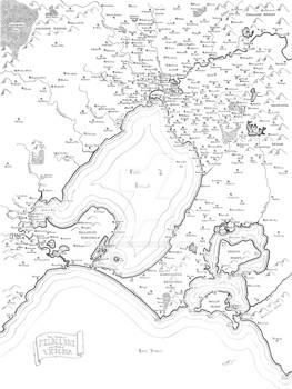 Melbourne fantasy map