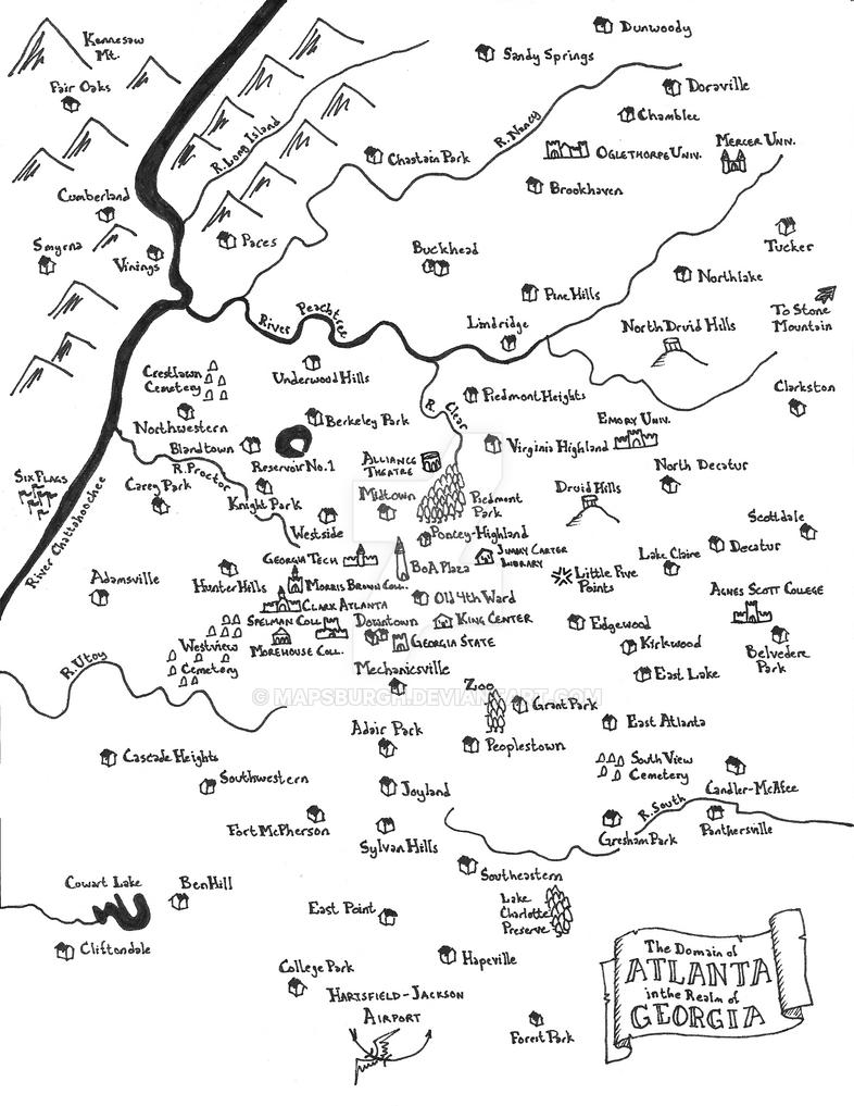 Atlanta fantasy map by Mapsburgh