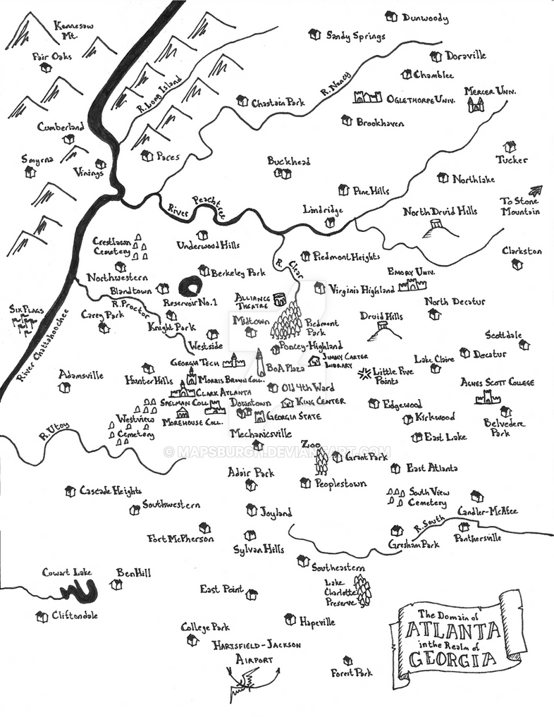 Atlanta fantasy map