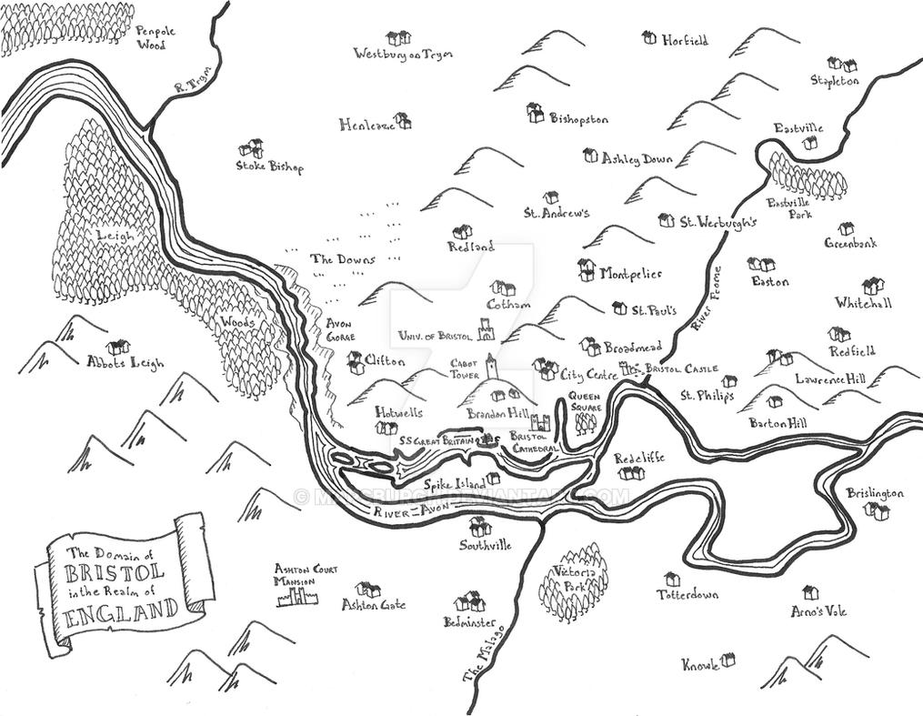 Bristol fantasy map by Mapsburgh
