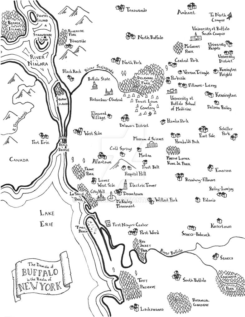 Buffalo fantasy map by Mapsburgh