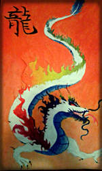 Art Project #3, finished Albino Dragon