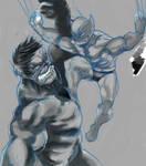 Hulk vs. Wolvie v1: pencils