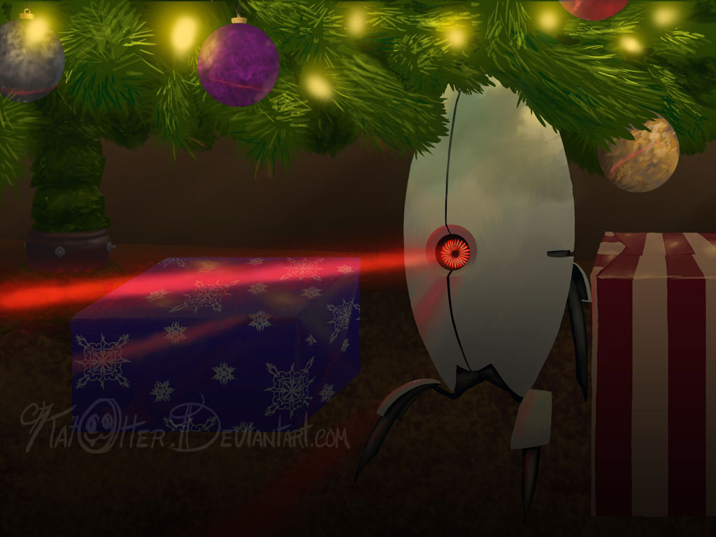 A Portal Christmas... by KatOtter on DeviantArt