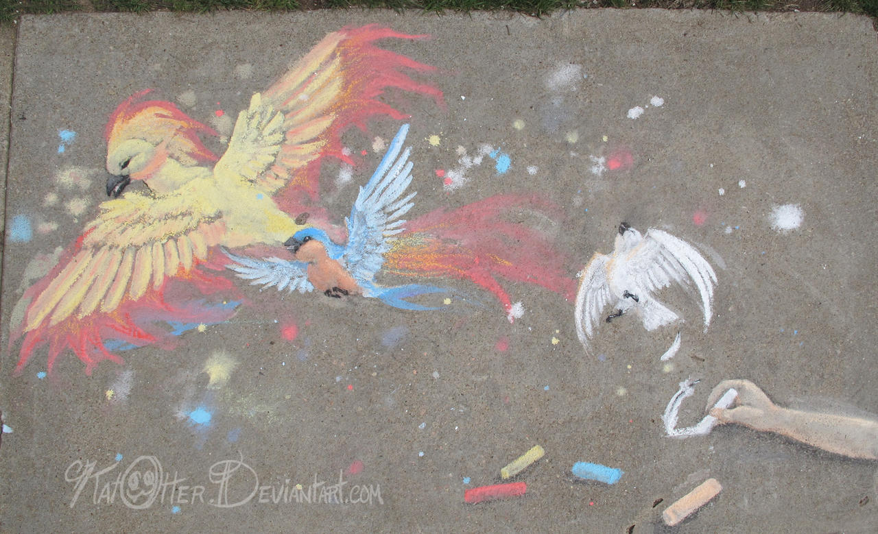 Bird Sidewalk by KatOtter