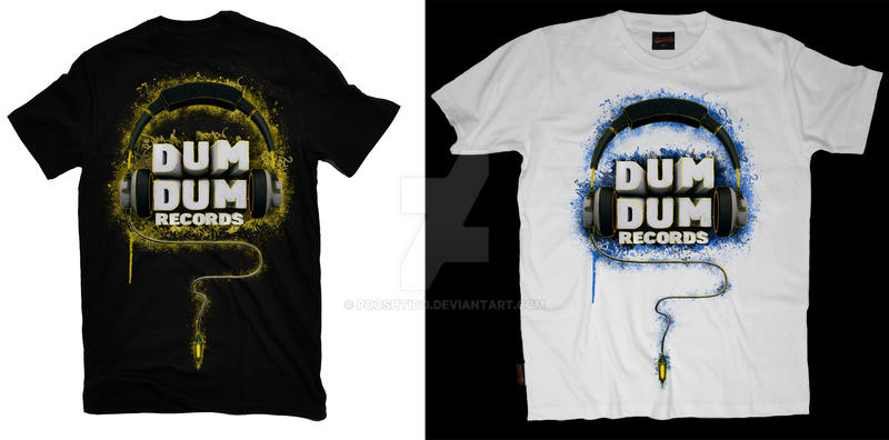 DumDum Records T-Shirts by PooshtioO