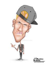 Machine Gun Kelly Caricature