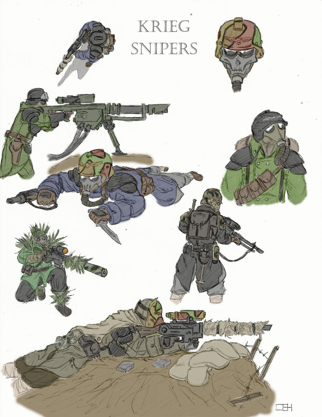 Death Korps of Krieg Sniper Concept Colored by ...