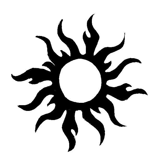 3 sun tribal tattoo by xxdistortion on deviantart. Black Bedroom Furniture Sets. Home Design Ideas