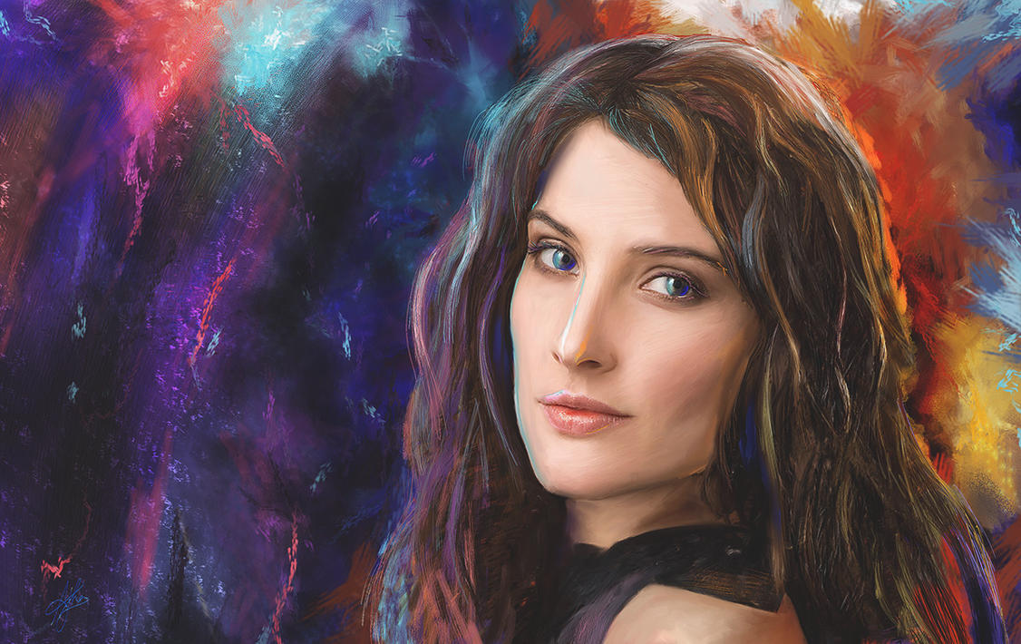 Cobie Smulders - Digital Portrait by morningstar3878
