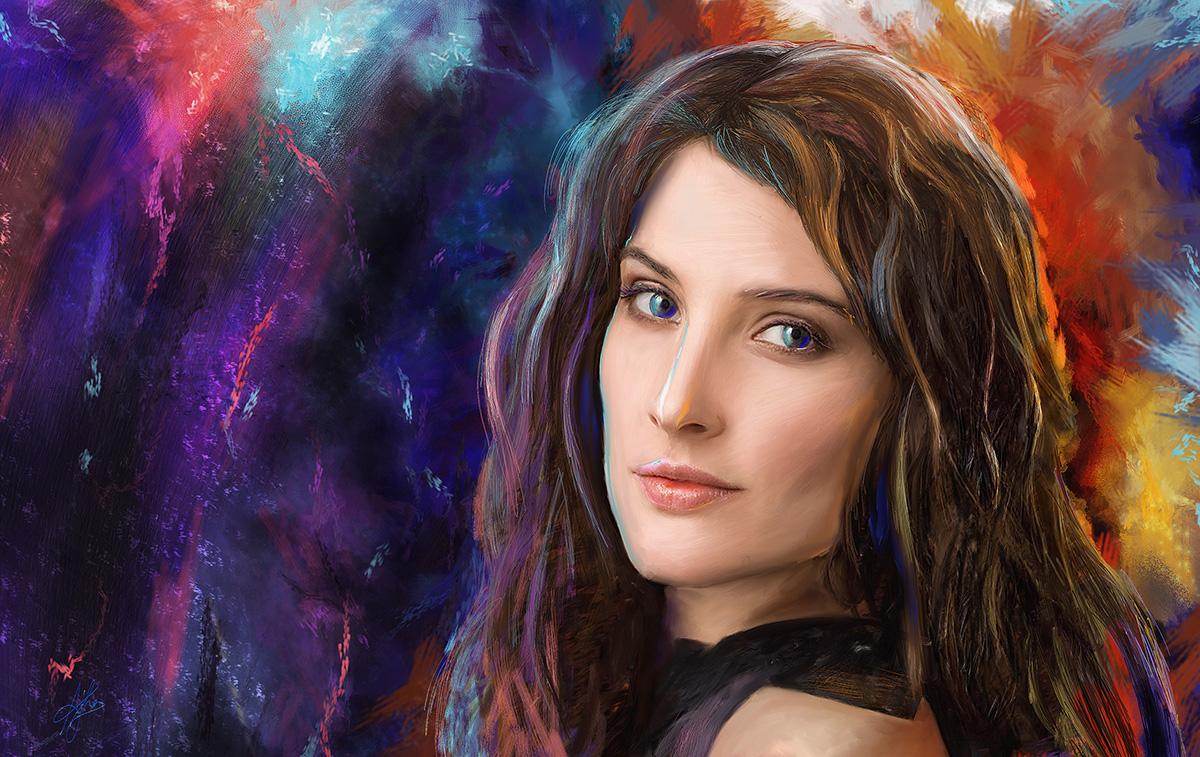 Cobie Smulders - Digital Portrait by morningstar3878