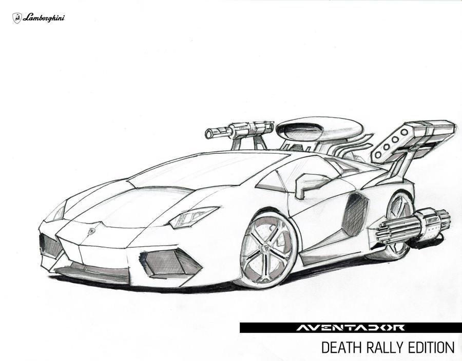 How To Draw Aventador