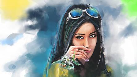 Ileana D'cruz - Digital painting by morningstar3878
