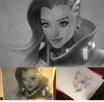 Sombra Progressive Drawing by Spinkyy