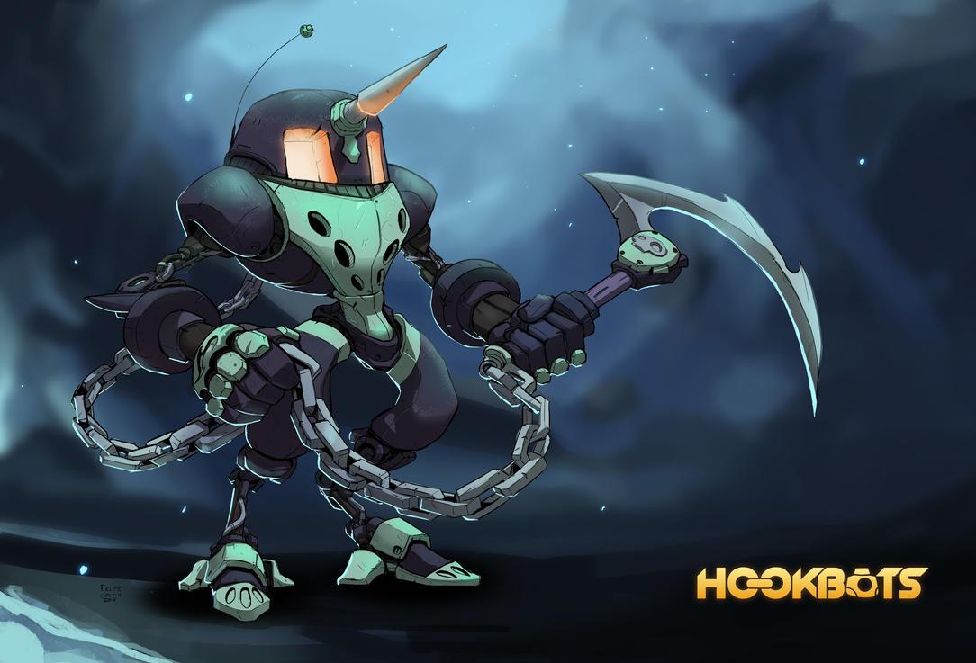 Hookbots - Ultima character design by ZeroCartin