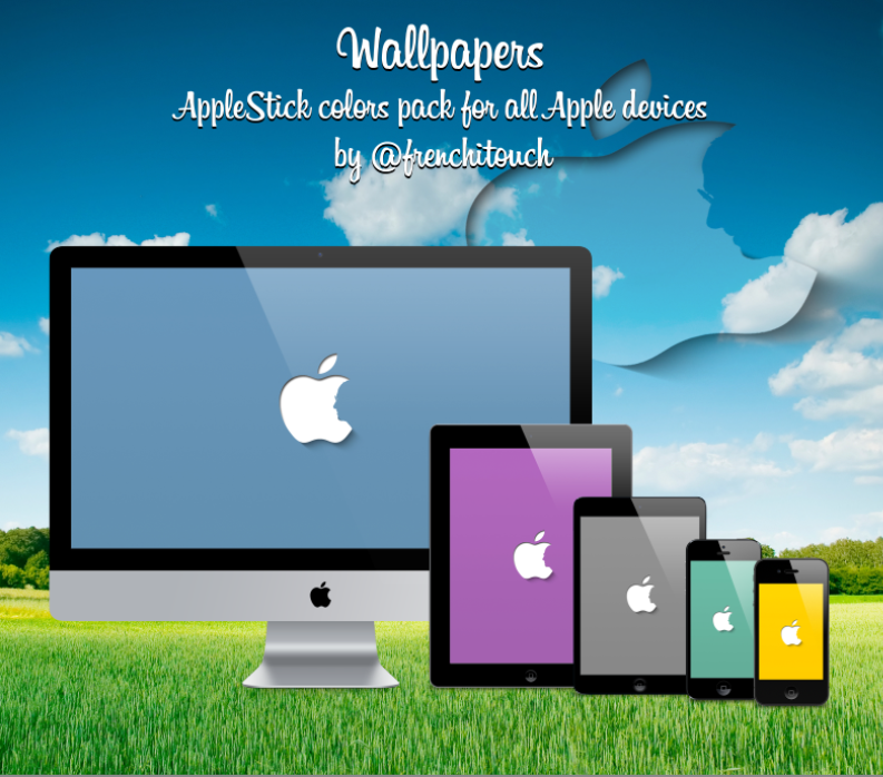 Colors Pack Apple Stick wallpapers