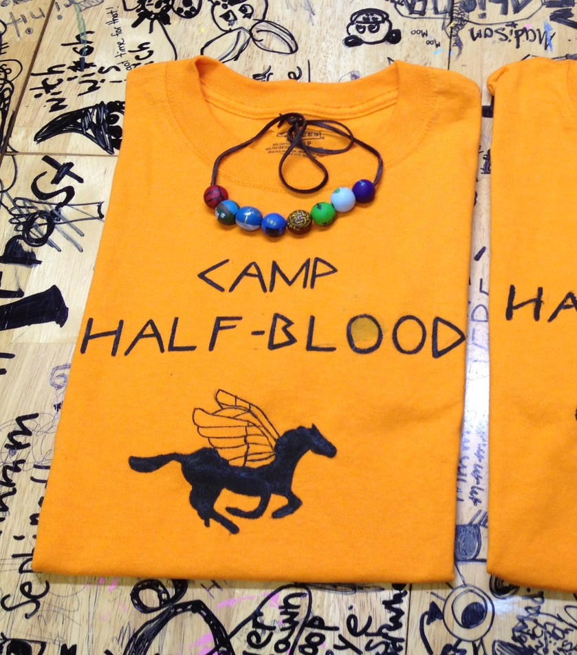 Percy Jackson Camp Half Blood T Shirt By Thedoorwithin On