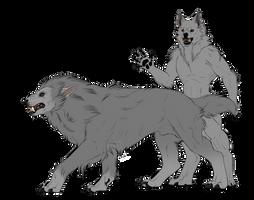 Werewolf Lineart Package | P2U by dergenn