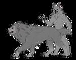 Werewolf Lineart Package   P2U