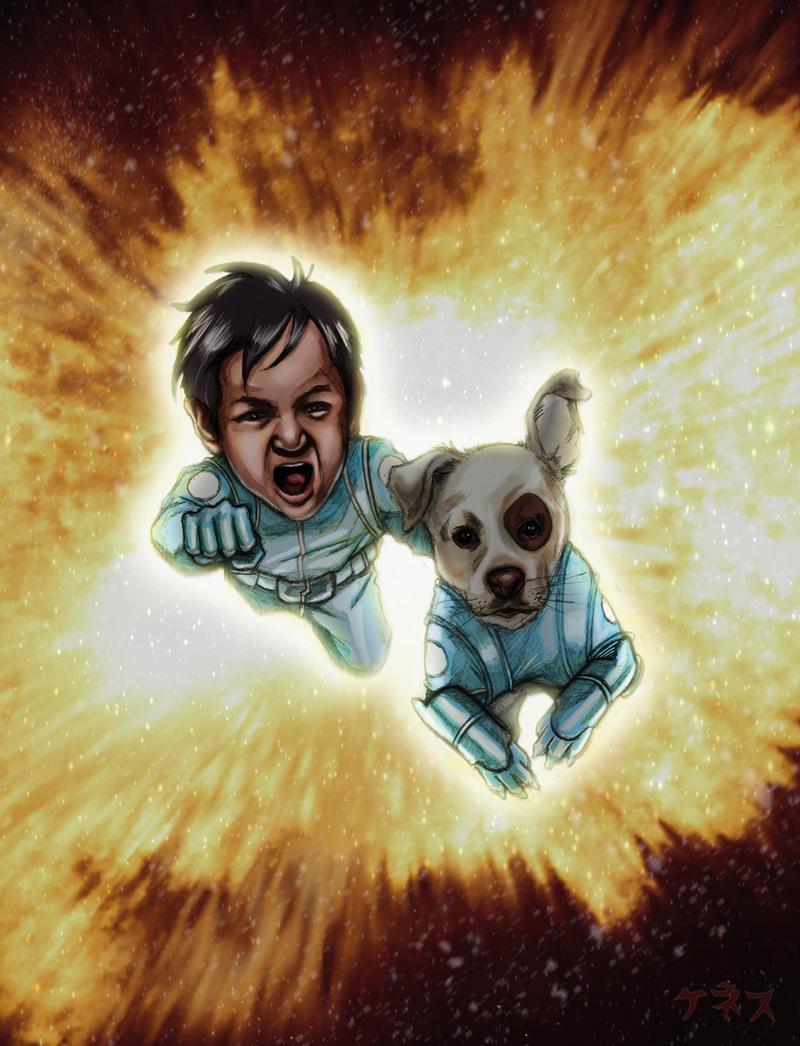 Kozmo and Rerun fan art by KennyGordon