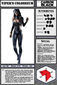 Viper's Colosseum: Carbon Black reference sheet