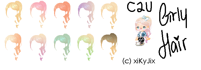 Girly Hair Pack by Xikio by xiKyJix