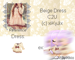 Beige Dress by Xikio by xiKyJix