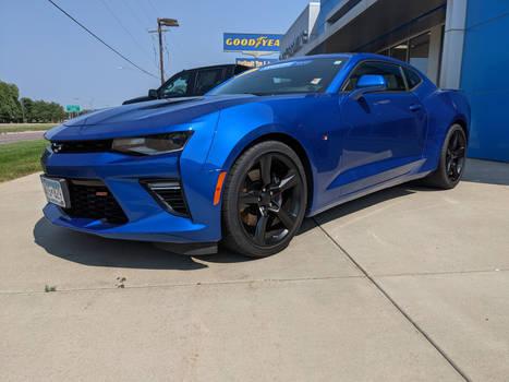 2018 Blue Camaro