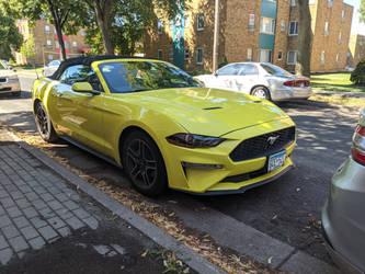 Bright Mustang Convertible