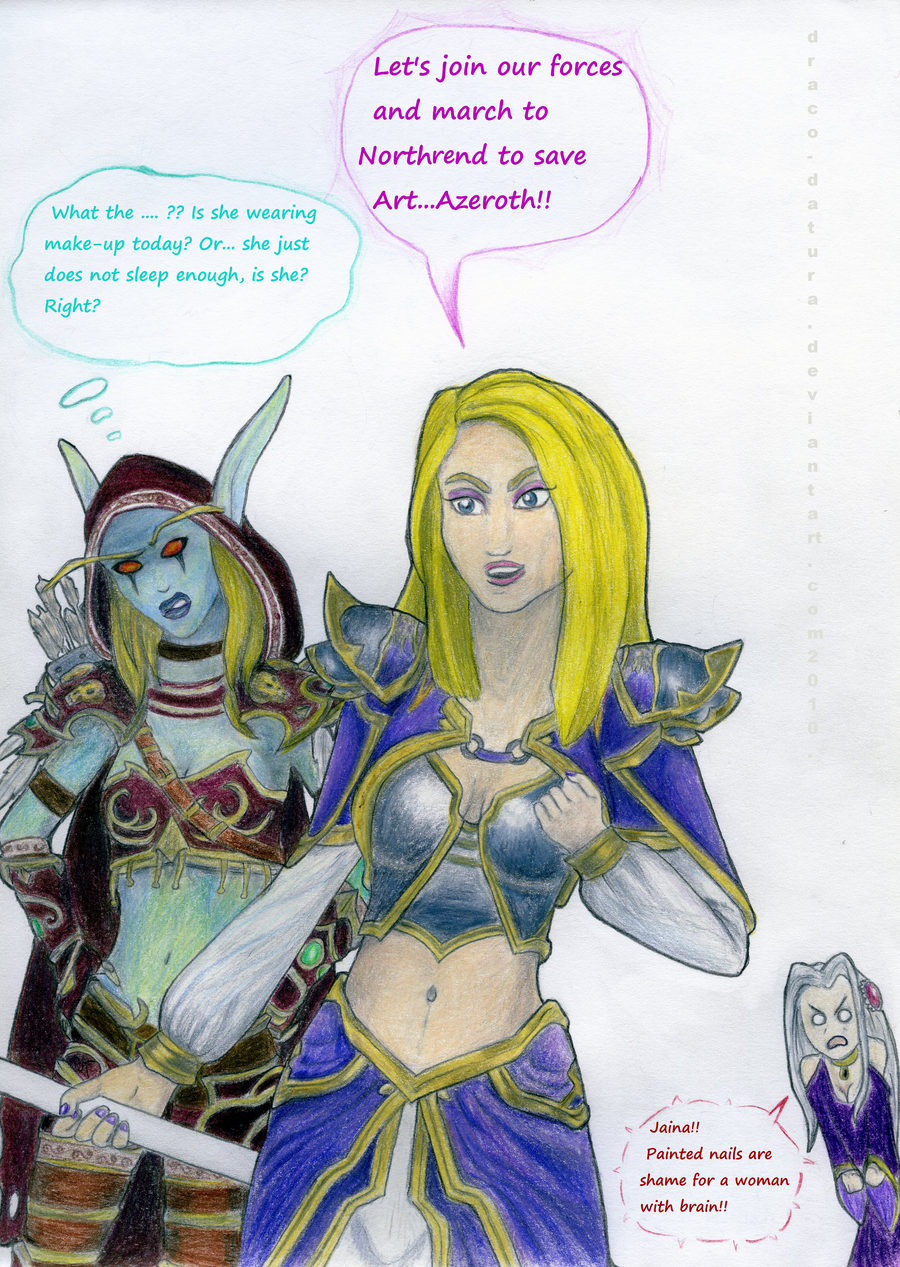 Download sleeping Lady Sylvanas and Jaina Proudmoore  fucks download